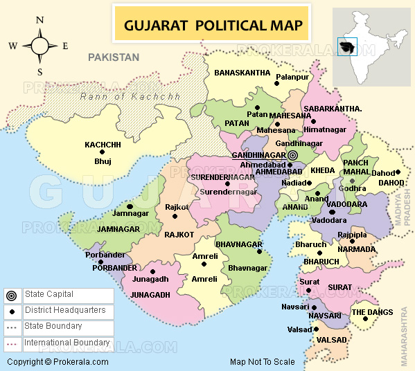 GUJARAT POLITICAL MAP