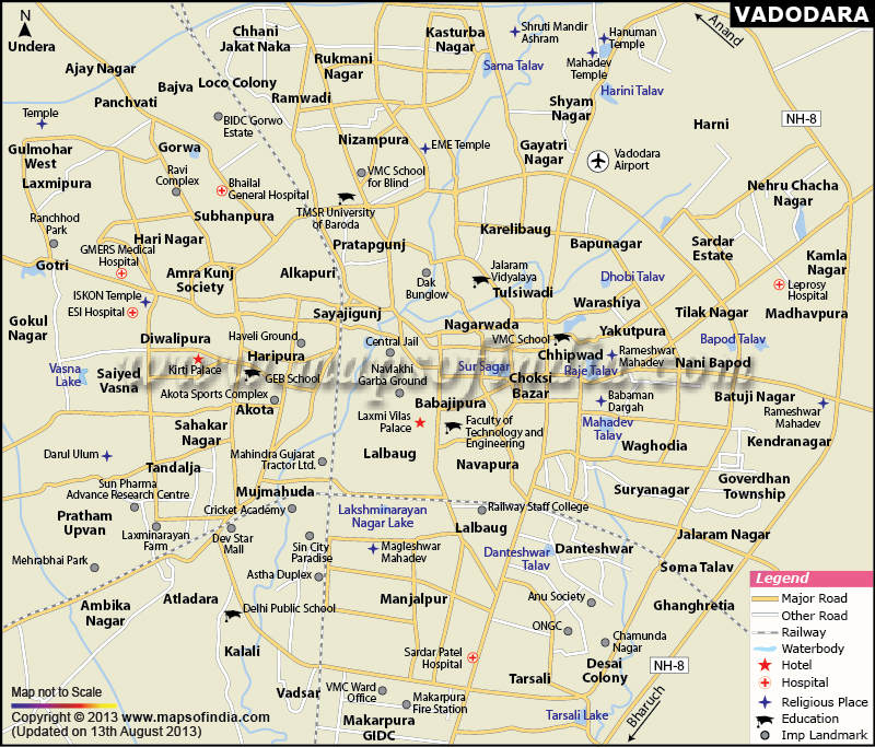 GUJARAT VADODARA CITY MAP