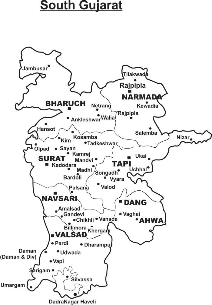 SOUTH GUJARAT MAP 1